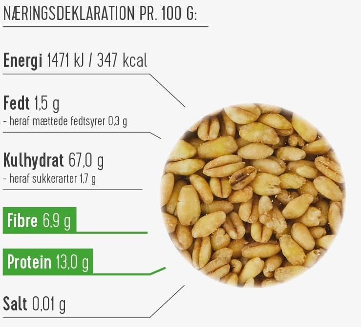 Hvedekerner næringsdeklaration
