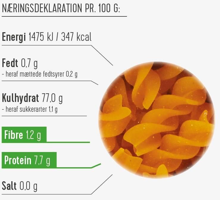 Majspasta næringsdeklaration