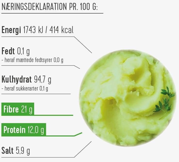 Kartoffelmos med løg og spinat